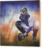 Detroit Tiger Alex Avila Wood Print