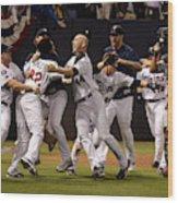 Detroit Tigers v Minnesota Twins Wood Print