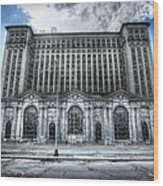 Detroit's Abandoned Michigan Central Train Station Depot Wood Print