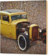 Deuce Coupe On Rust  Wood Print