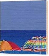 Deuce Umbrellas Wood Print