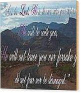Deuteronomy 31 Verse 8 Wood Print