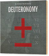 Deuteronomy Books Of The Bible Series Old Testament Minimal Poster Art Number 5 Wood Print by Design Turnpike
