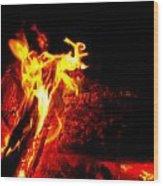 Devil Flame Wood Print