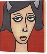 Devil Girl Wood Print