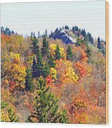 Devil's Courthouse In The Fall Wood Print