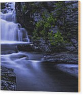 Devil's Hopyard Waterfall Wood Print