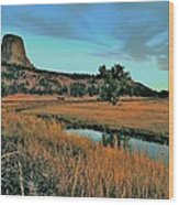 Devils Tower Daybreak Wood Print