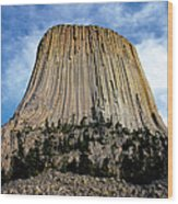 Devils Tower Wood Print