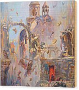 Devoted To The Saint Memory Of The Victims Of Armenian Genocide Wood Print
