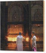 Devotion In Jerusalem Wood Print