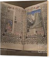 Devotional Book Wood Print