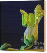 Dew On The Dragon Wood Print