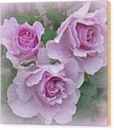 Dew On The Roses Wood Print
