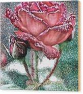 Dewey Rose Wood Print
