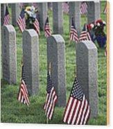 Dfw National Cemetery Wood Print