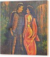 Dhak Dhak Wood Print