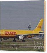 Dhl Airbus A300 Wood Print