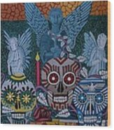 Dia De Los Muertos Wood Print by Anthony Morris