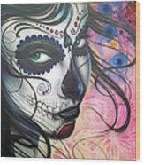 Dia De Los Muertos Chica Wood Print