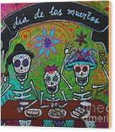 Dia De Los Muertos Familia Wood Print