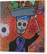 Dia De Los Muertos Fruit Vendor Wood Print