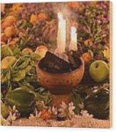 Dia Del Muerte Altar Wood Print