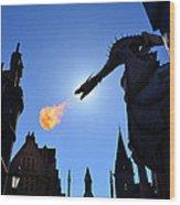Diagon Alley Dragon Fire Wood Print
