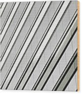 Diagonal Lines Of A Chicago Building Wood Print