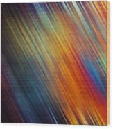Diagonal Rainbow Wood Print