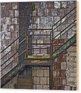 Diagonal Stairs Wood Print by Murray Bloom