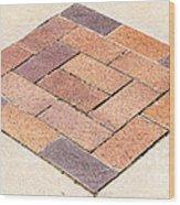 Diamond Bricks Wood Print