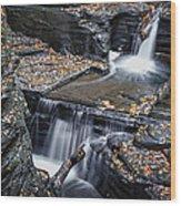 Diamond Falls Wood Print