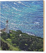 Diamond Head Lighthouse - Hawaii Wood Print