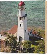 Diamond Head Lighthouse Honolulu Wood Print