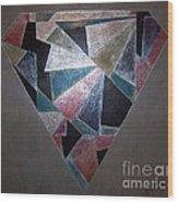 Diamond In The Mud Wood Print
