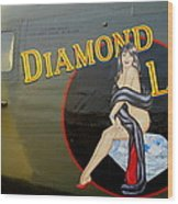 Diamond Lil B-24 Bomber Wood Print