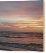 Diamond Shoals Sunset - Outer Banks Nc Wood Print