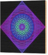 Diamond Swirl Wood Print by Sandy Keeton