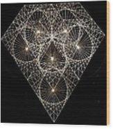 Diamond White And Black Wood Print