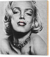 Diamonds Are A Girls Best Friend   Hot Lips Edition Wood Print by Andrew Read