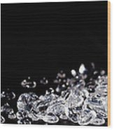 Diamonds On Black Background Wood Print