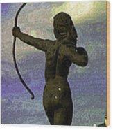 Diana-goddess Of The Hunt On B Street Wood Print