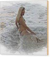 Diana In Cancun Wood Print