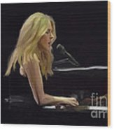 Diana Krall Wood Print by GCannon