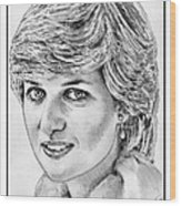 Diana - Princess Of Wales In 1981 Wood Print
