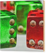 Dice - Boxcars Wood Print