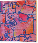 Dichotomy  Original Abstract Oil Painting By Regina Valluzzi Wood Print