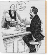 Dickens' First Encounter With A Martini Wood Print