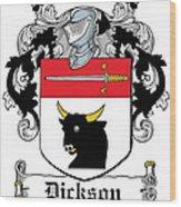 Dickson Coat Of Arms Dublin Wood Print